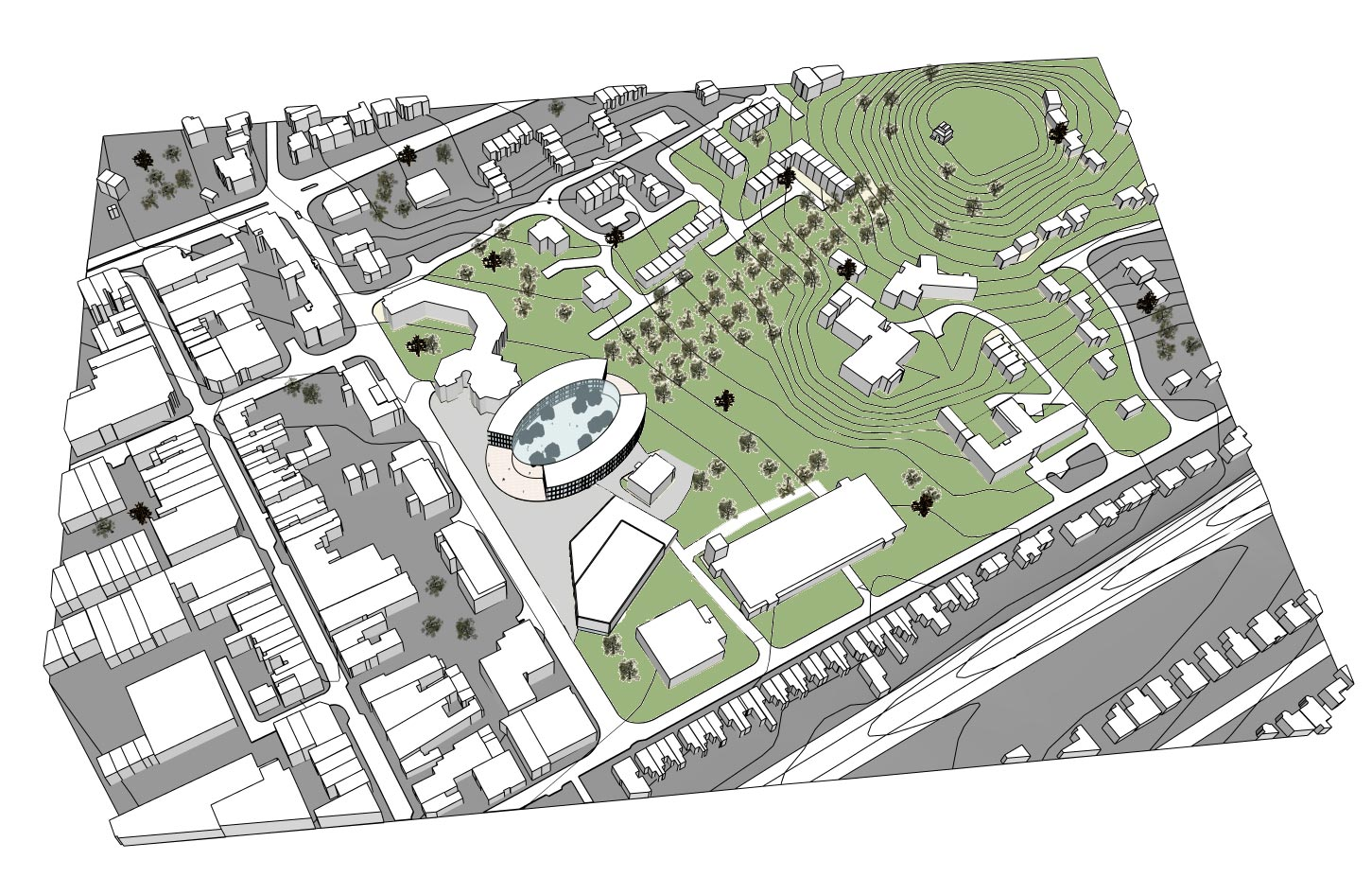 Home Etc Design Quarter Camberley Cultural Quarter Masterplan Prs Architects