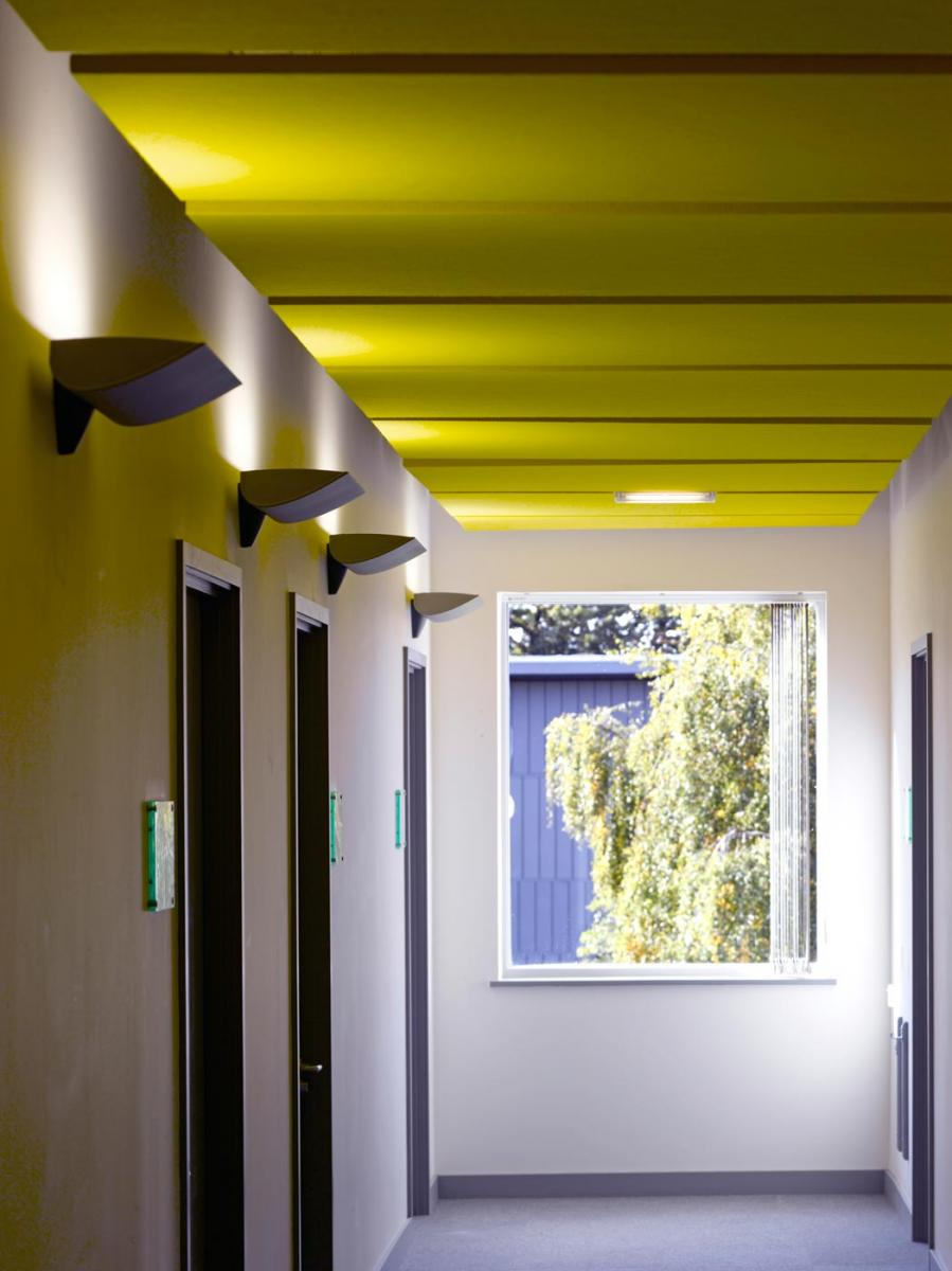 Health & Human Sciences Essex University - Interior corridor view