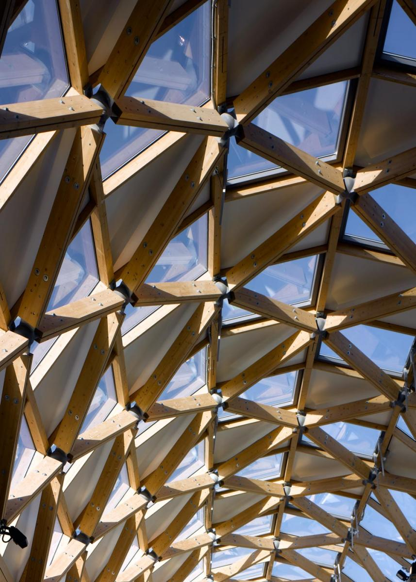 Herbert Art Gallery & Museum, Coventry - Diagrid roof of Covered Court