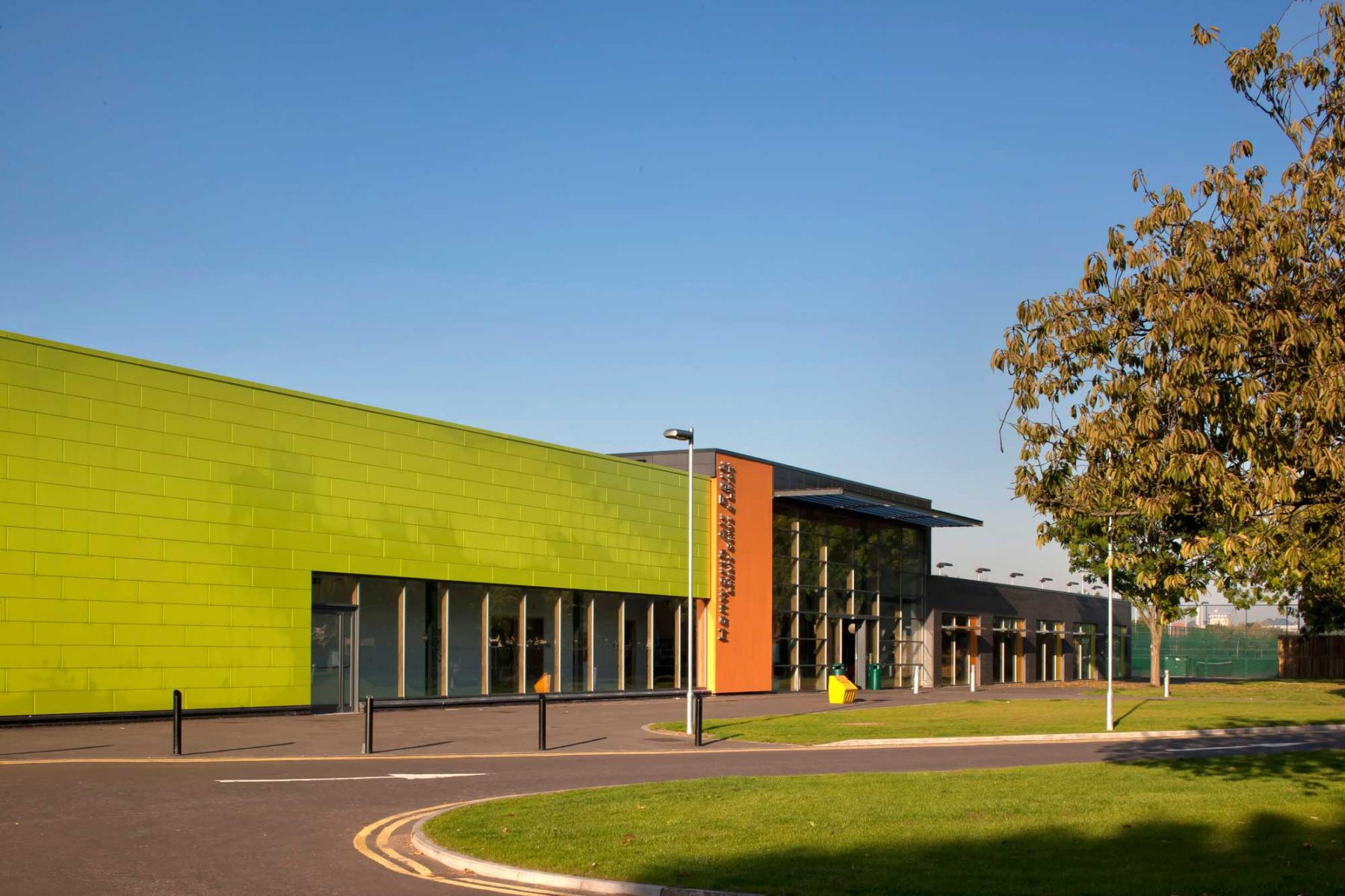 Hounslow Leisure Centres at Isleworth, Chiswick & Feltham - Exterior of Hanworth Air Park Leisure Centre