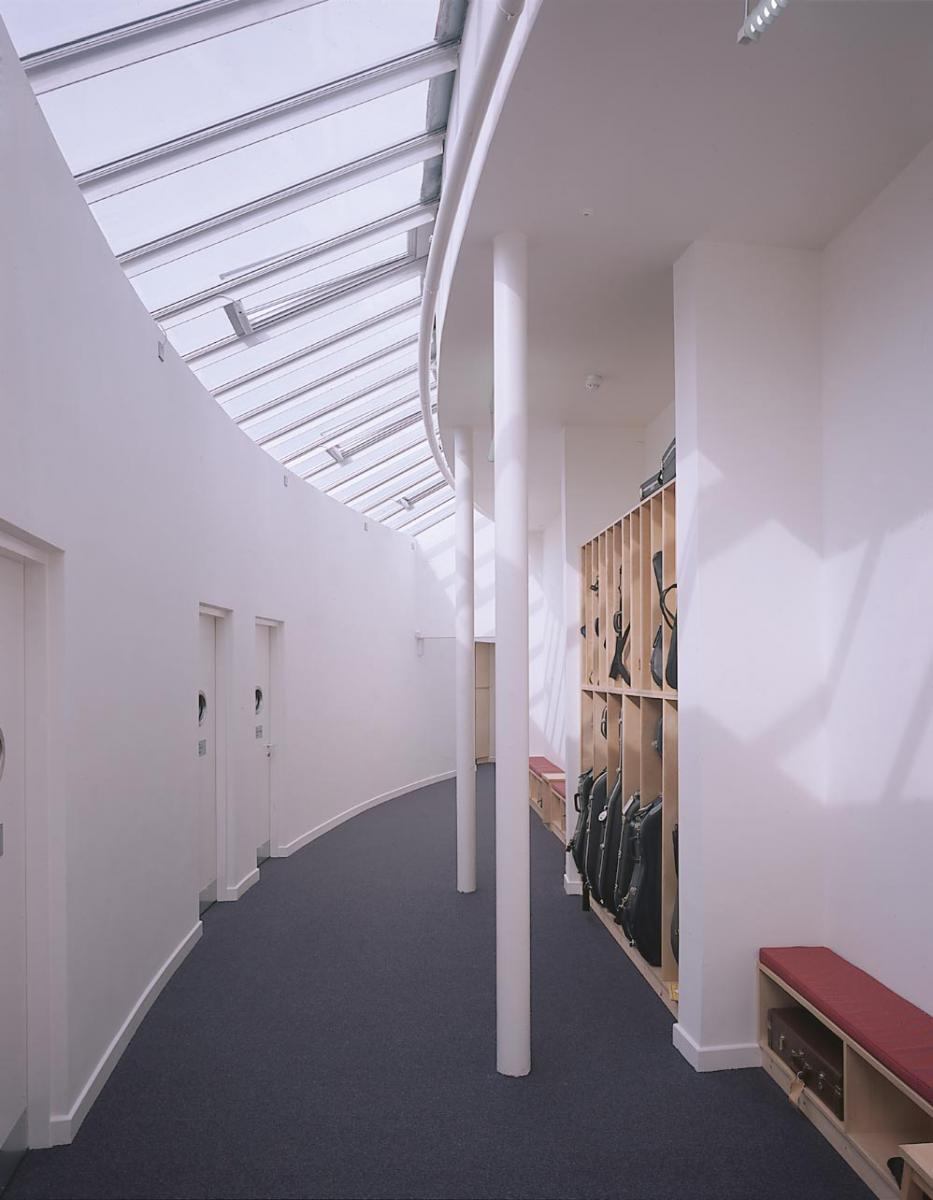 Shrewsbury School Music School - Corridor interior
