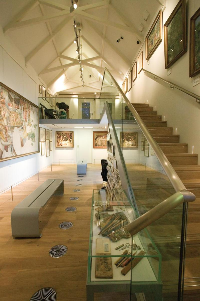 Stanley Spencer  Gallery, Cookham -  Gallery interior and mezzanine