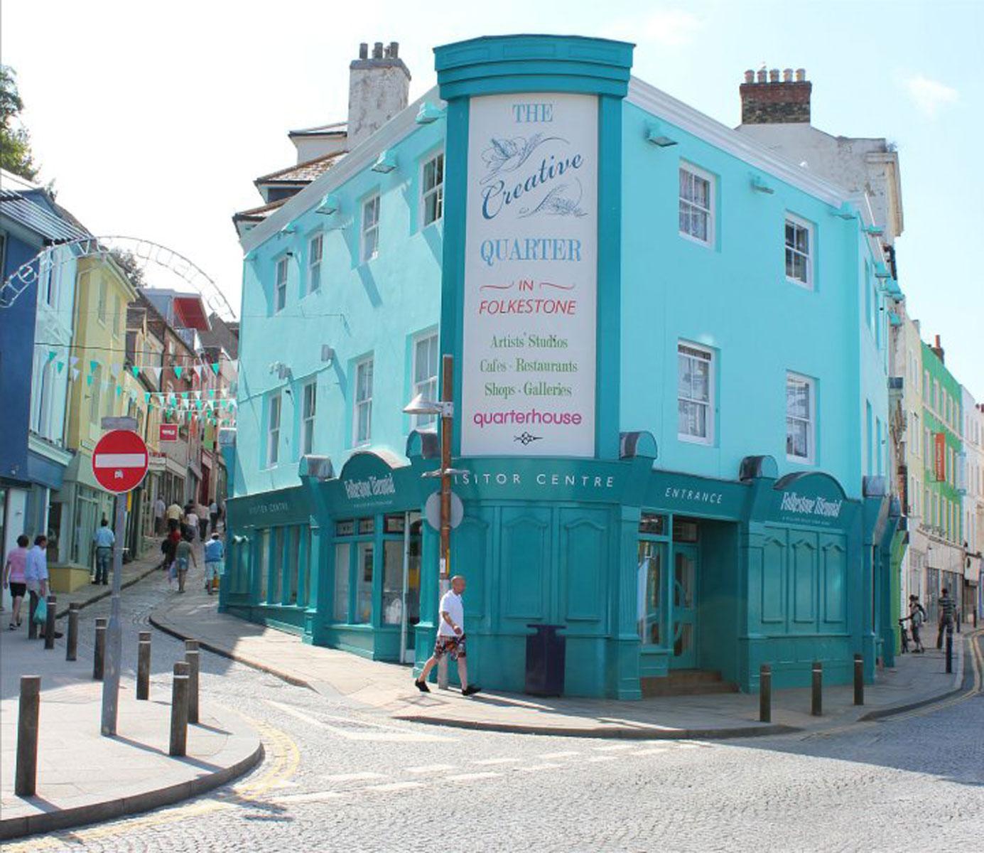 The Creative Quarter in old Folkestone Stock Photo