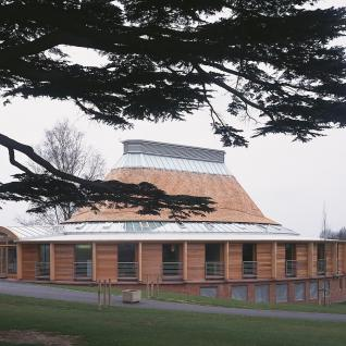 Shrewsbury School Music School - External view from upper common