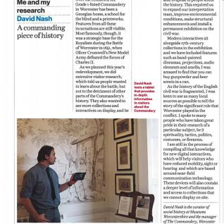 The Commandery, Museums Journal 2017