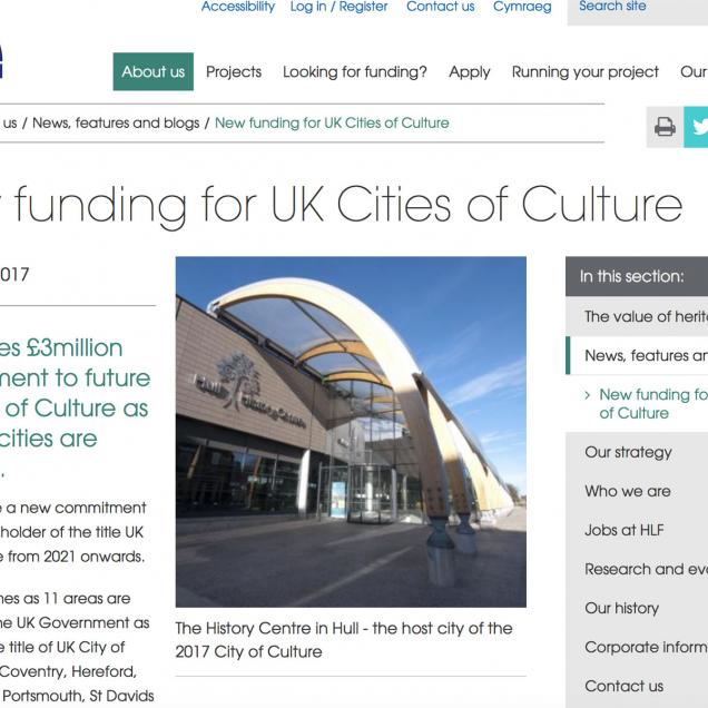 HLF Review of Hull History Centre
