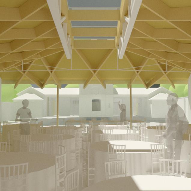 Brockwell Hall - Cafe/Main Room 3D View